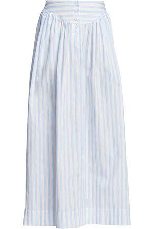 ROSETTA GETTY Women Maxi Skirts - Women's Gathered Yoke Maxi Skirt - Baby - Size XS