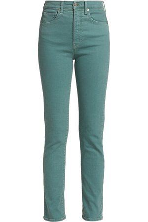 VERONICA BEARD Women's Ryleigh High-Rise Straight Jeans - Teal - Size Denim: 29