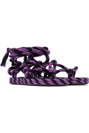 Isabel Marant Erol lace-up cotton sandals