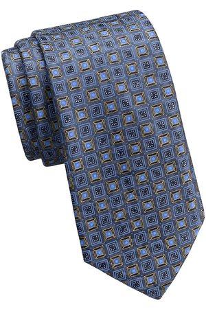 Ermenegildo Zegna Men Neckties - Men's Square-Print Silk Tie