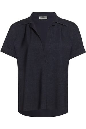CHIARA BONI Women's Bili Short-Sleeve Polo - Denim - Size 6