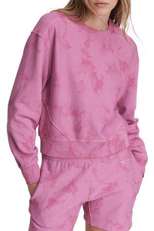 RAG&BONE Women Denim - Women's City Tie-Dye Sweatshirt - Fuschia - Size Small