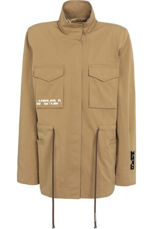 OFF-WHITE Women Jackets - Printed gabardine jacket