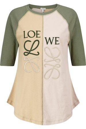 Loewe Women Short Sleeve - Anagram cotton T-shirt