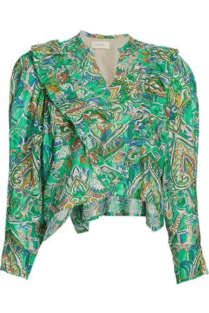 CHUFY Women's Ancient Burma Zeya Blouse - Ko Print - Size Large