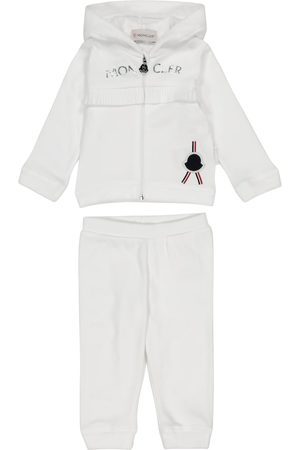 Moncler Pants - Baby cotton jersey tracksuit