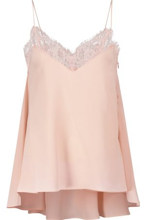 Alexander McQueen Lace-trimmed silk camisole