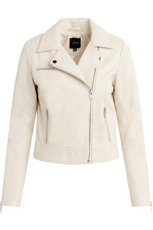 Joes Jeans Women's Dylan Leather Zip Moto Jacket - Off - Size XS