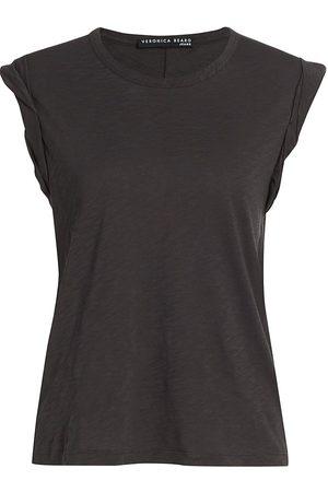 VERONICA BEARD Women T-shirts - Women's Dree Muscle T-Shirt - Charcoal - Size Large