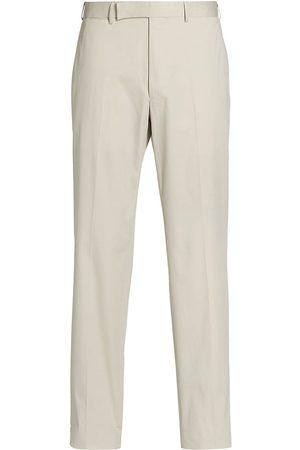 Ermenegildo Zegna Men Stretch Pants - Men's Premium Cotton Stretch Trousers - Natural Solid - Size 38