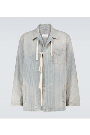 Maison Margiela Men Denim Jackets - Striped denim jacket