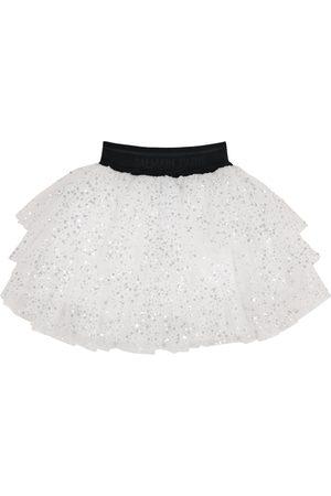 Balmain Sequined tulle skirt