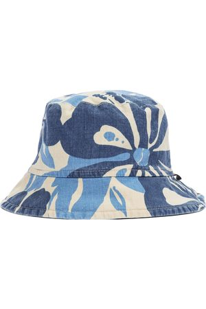 Il gufo Boys Hats - Printed cotton and linen bucket hat