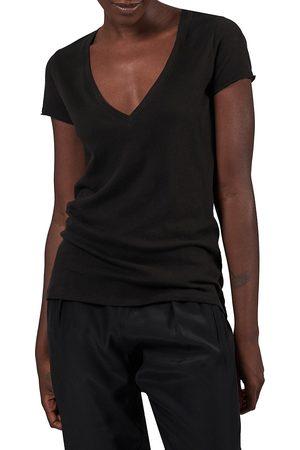 ATM Anthony Thomas Melillo Women's Vintage Jersey V-Neck T-Shirt - - Size Large