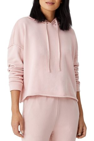 Eileen Fisher Women's Cropped Boxy Hoodie - Powder - Size XL