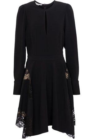 Stella McCartney Women Mini Dresses - Celeste lace-trimmed cady minidress