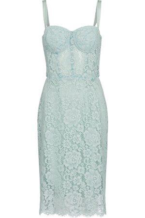 Dolce & Gabbana Women Midi Dresses - Cotton-blend lace midi dress