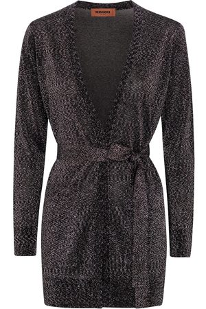 Missoni Metallic belted cardigan
