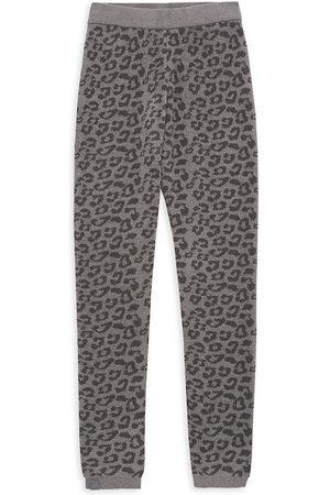 Barefoot Dreams Girls Leggings - Little Girl's & Girl's Leopard Leggings - Grey - Size 6