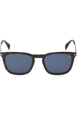 David beckham Men Round - Men's 53MM Round Sunglasses - Havana
