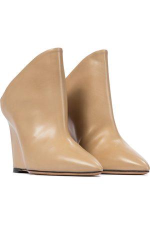 Isabel Marant Women Pumps - Tykat 90 wedge leather mules