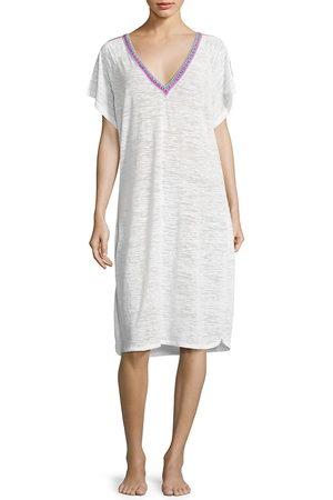 Pitusa Women Midi Dresses - Women's Inca-Trimmed V-Back Dress - - Size Medium
