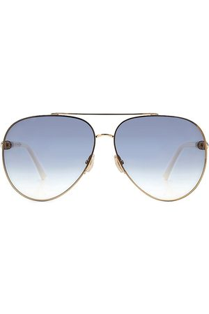 Jimmy Choo Women's Grays 63MM Aviator Crystal-Detail Sunglasses