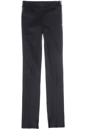 Helmut Lang Women's Leather Trousers - Onyx - Size 6