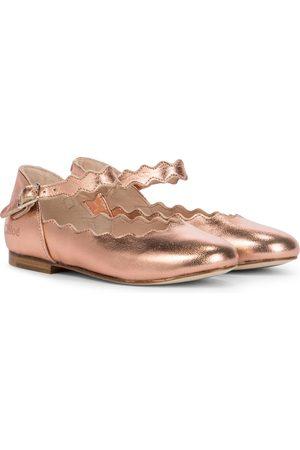 Chloé Metallic leather ballet flats