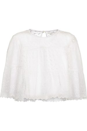 Isabel Marant Tevika broderie anglaise cotton top