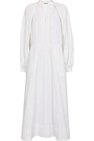 Jil Sander Women Maxi Dresses - Cotton-poplin maxi dress