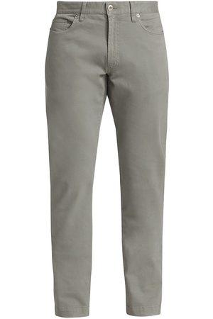 Saks Fifth Avenue Men's COLLECTION Cotton Stretch Five-Pocket Pants - Moon Mist - Size 30