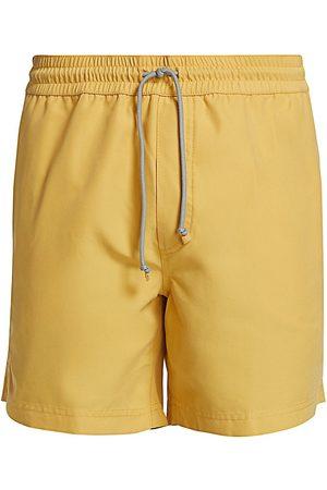 Brunello Cucinelli Men Swim Shorts - Men's Solid Drawstring Swim Trunks - Mid - Size XL