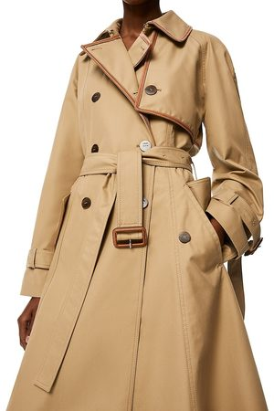 Loewe Women Trench Coats - Women's Asymmetric Hem Trench Coat - - Size 4