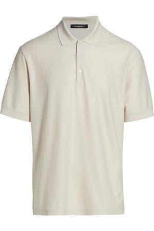 Ermenegildo Zegna Men Polo Shirts - Men's Cotton-Silk Polo - Light Solid - Size 40