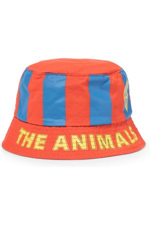 The Animals Observatory Girls Hats - Starfish striped cotton bucket hat