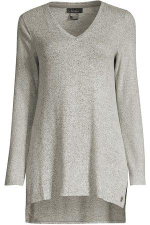 Natori Women's Ulla V-Neck Tunic - Heather Grey - Size Medium