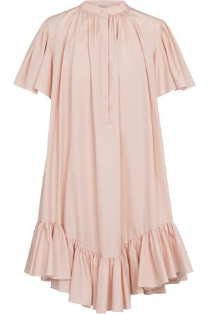 Alexander McQueen Women Mini Dresses - Ruffled cotton minidress