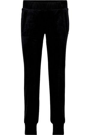 Norma Kamali Stretch-velvet trackpants
