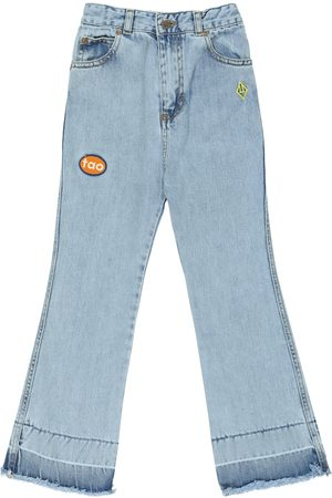 The Animals Observatory Condor logo appliqué bootcut jeans