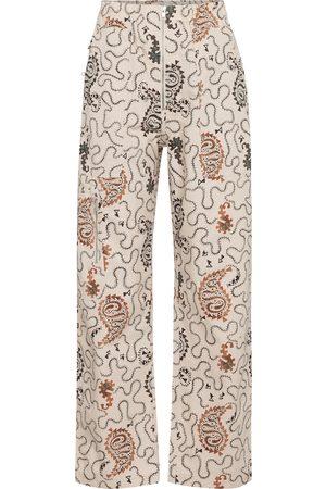 Isabel Marant Women Pants - Noferis paisley cotton pants