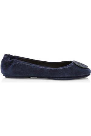 Tory Burch Women's Minnie Suede Ballet Flats - Perfect Navy - Size 10