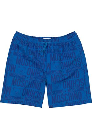 Moschino Boys Swim Shorts - Logo swimming shorts