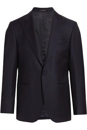 Saks Fifth Avenue Men Blazers - Men's COLLECTION Textured Sportcoat - Navy - Size 38