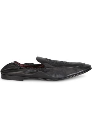Dolce & Gabbana Men Loafers - Men's Ariosto Leather Loafers - Nero - Size 11