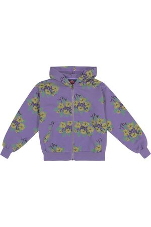 The Animals Observatory Seahorse floral cotton jersey hoodie