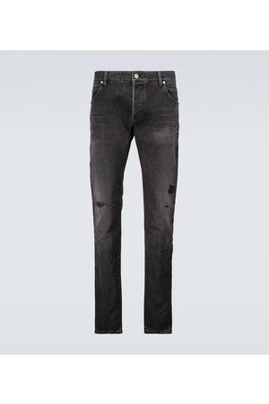 Balmain Straight-leg distressed jeans