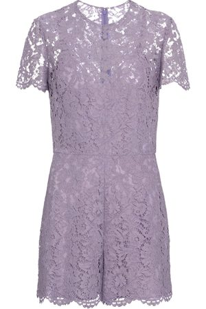 VALENTINO Floral-lace playsuit