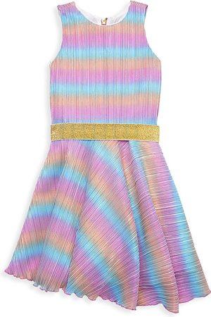 Zoe Girl's Lia Metallic Rainbow Dress - Size 16