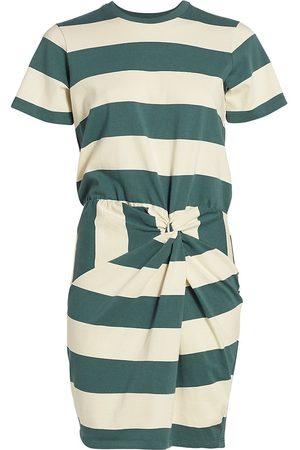 VERONICA BEARD Women Skirts & Dresses - Women's Tyla Striped T-Shirt Dress - Ecru Teal - Size Small
